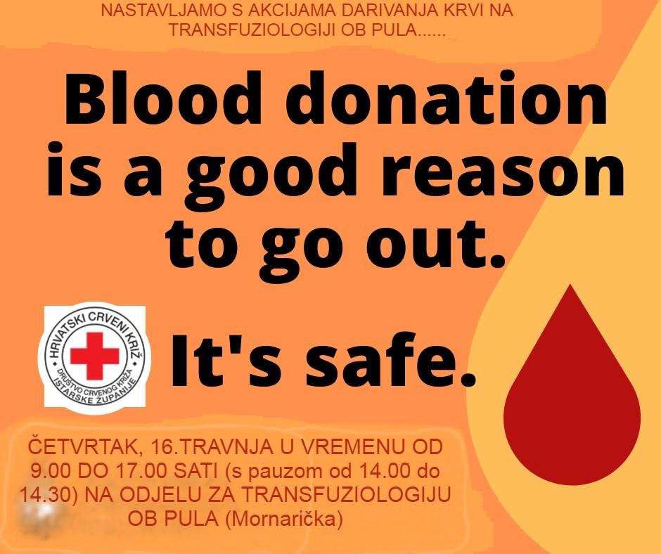 Akcija darivanja krvi 16.04.2020.g.