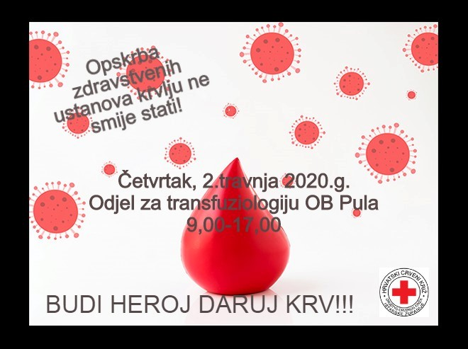 Akcija darivanja krvi 02.04.2020.g.