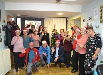 Povodom nadolazećih blagdana gradonačelnik posjetio korisnike Dnevnog boravka za starije osobe Pazin